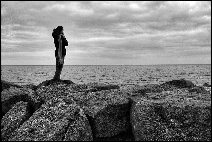 Черно белые картинки с надписью на море, юбилей бабушке своими